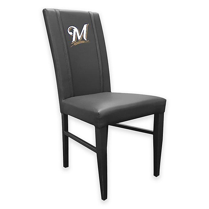 Alternate image 1 for MLB Milwaukee Brewers Alternate Logo Upholstered Side Chair