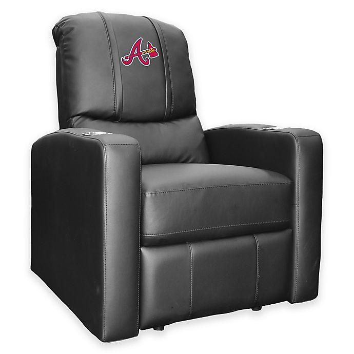 Alternate image 1 for MLB Atlanta Braves Stealth Recliner in Black