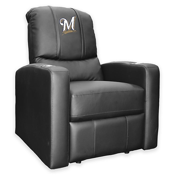 Alternate image 1 for MLB Milwaukee Brewers Stealth Recliner in Black