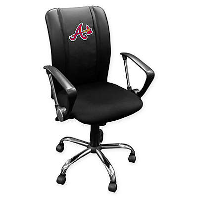 MLB Atlanta Braves Alternate Logo Curve Task Chair