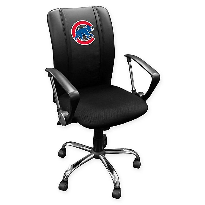 Alternate image 1 for MLB Chicago Cubs Alternate Logo Curve Task Chair