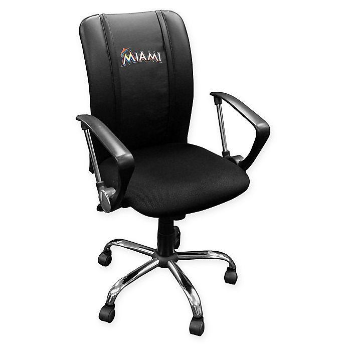Alternate image 1 for MLB Miami Marlins Alternate Logo Curve Task Chair