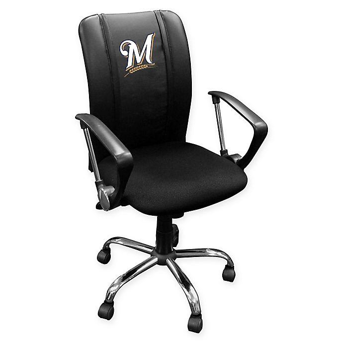 Alternate image 1 for MLB Milwaukee Brewers Alternate Logo Curve Task Chair