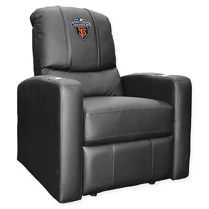 Alternate image 1 for MLB San Francisco Giants Stealth Recliner Chair with 2010 Championship Logo in Black