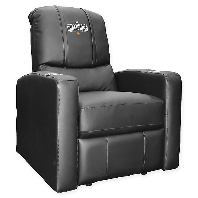 Alternate image 1 for MLB San Francisco Giants Stealth Recliner Chair with 2014 Championship Logo in Black