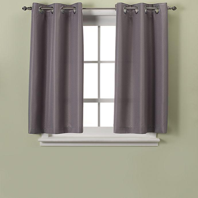 Alternate image 1 for Hookless® Waffle 45-Inch Bath Window Curtain