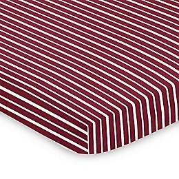 Sweet Jojo Designs Vintage Aviator Mini Crib Sheet in Red/White