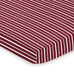 Sweet Jojo Designs Vintage Aviator Mini Crib Sheet in Red/White