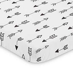 Sweet Jojo Designs® Black and White Fox Arrow Print Mini Crib Sheet