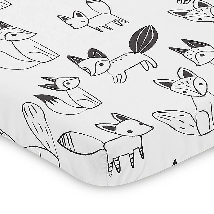 Alternate image 1 for Sweet Jojo Designs Fox Mini Crib Sheet