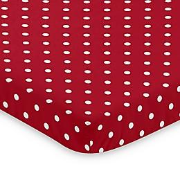 Sweet Jojo Designs Red and White Polka Dot Ladybug Mini Crib Sheet