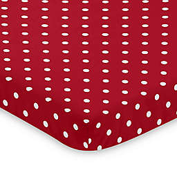 Sweet Jojo Designs Red and White Polka Dot Ladybug Mini Crib Sheet