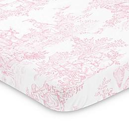 Sweet Jojo Designs Pink French Toile Mini Crib Sheet