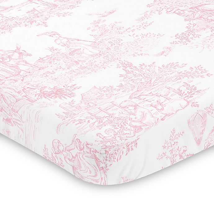Sweet Jojo Designs Pink French Toile Mini Crib Sheet Bed Bath Beyond