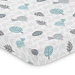 Sweet Jojo Designs Blue and Grey Earth and Sky Mini Crib Sheet