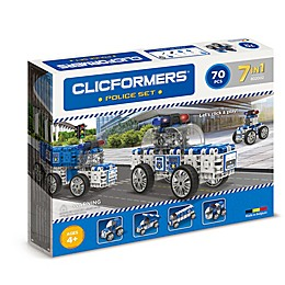 Clicformers® 70-Piece 7-in-1 Police Car Set