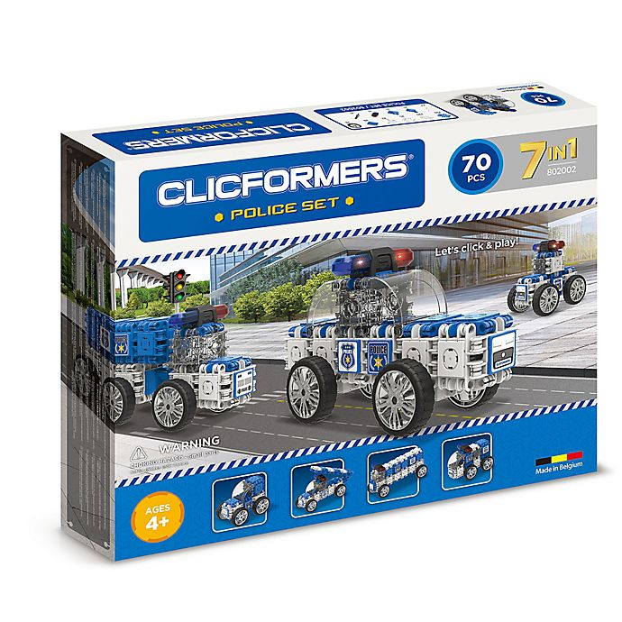 Alternate image 1 for Clicformers® 70-Piece 7-in-1 Police Car Set