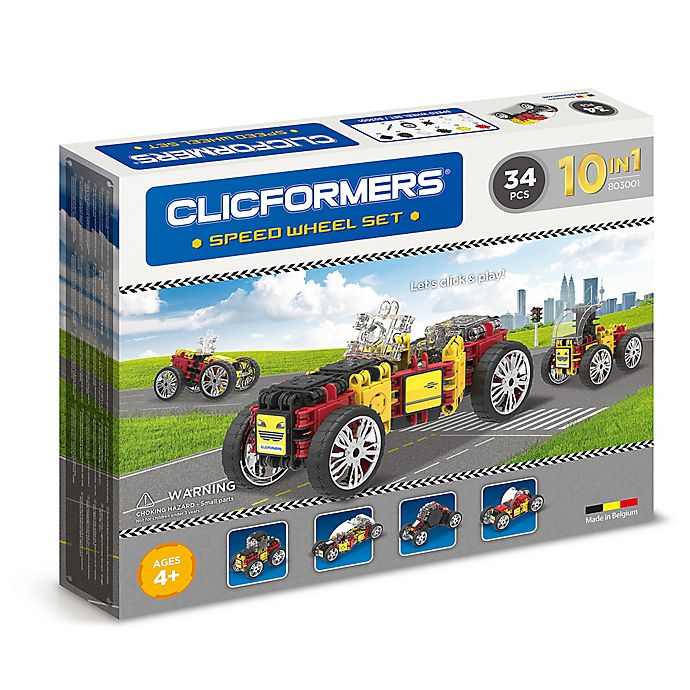 Alternate image 1 for Clicformers® 34-Piece Speed Wheel Building Set