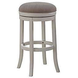 American Woodcrafters Aversa Bar Stool in White