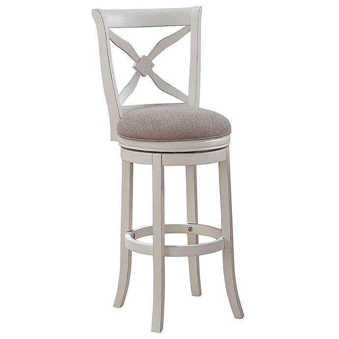 Alternate image 1 for American Woodcrafters Accera Bar Stool in White