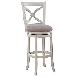 American Woodcrafters Accera 34-Inch Bar Stool in White