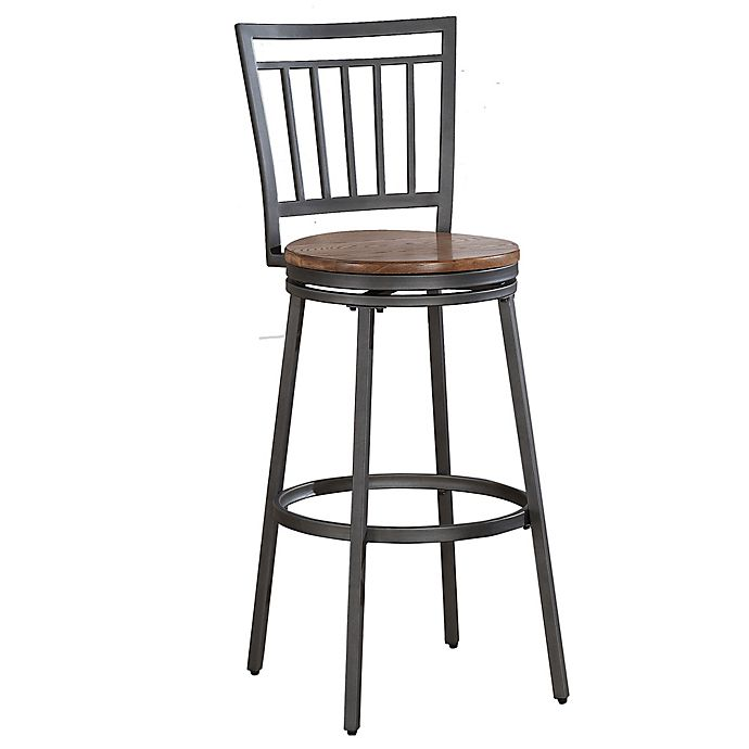 Alternate image 1 for American Woodcrafters Filmore Bar Stool in Slate Grey