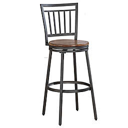 American Woodcrafters Filmore Bar Stool in Slate Grey