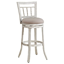 American Woodcrafters Palazzo Bar Stool in White