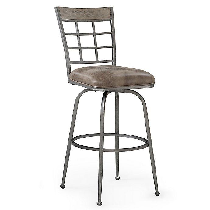 Terrific American Woodcrafters Microfiber Swivel Biscayne Bar Stool Dailytribune Chair Design For Home Dailytribuneorg