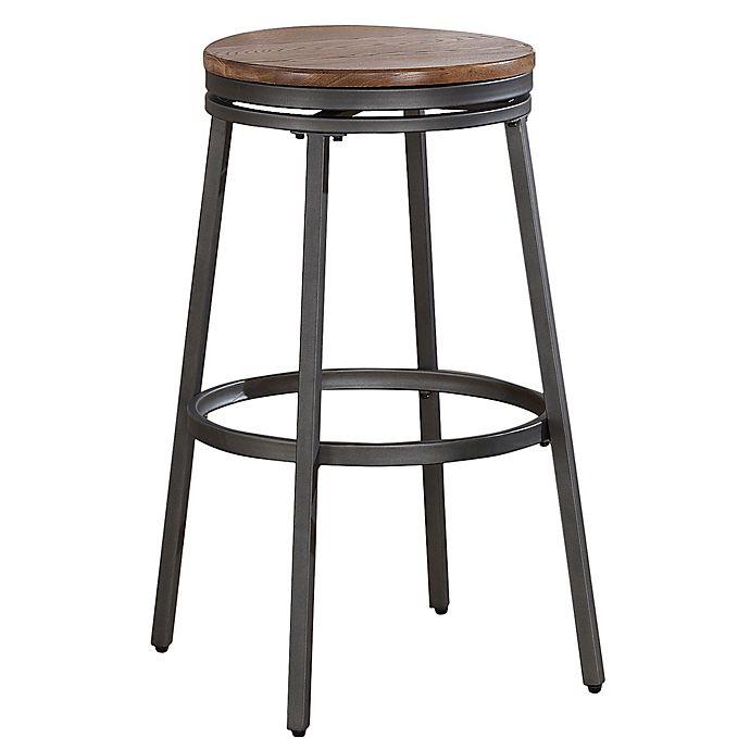 Alternate image 1 for American Woodcrafters Stockton Bar Stool in Slate Grey