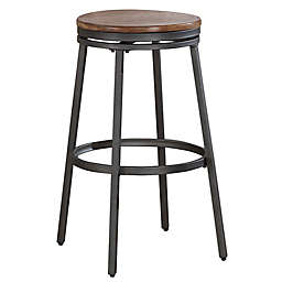 American Woodcrafters Stockton Bar Stool in Slate Grey