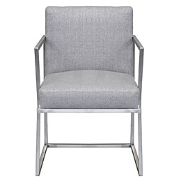 Armen Living® Warwick Dining Chair in Grey