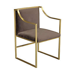 Armen Living® Wood/metal Upholstered Seville Dining Chair