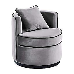 Armen Living® Velvet Swivel Truly Chair