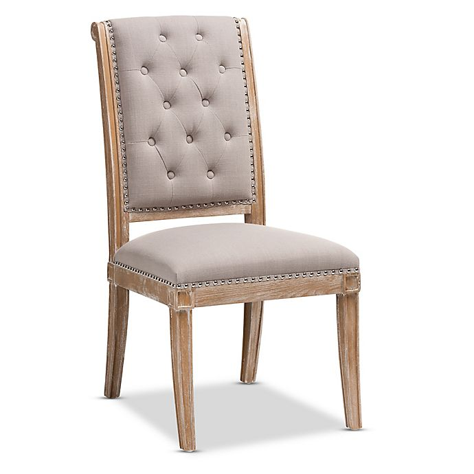 Alternate image 1 for Baxton Studio Linen Upholstered Charmant Dining Chair