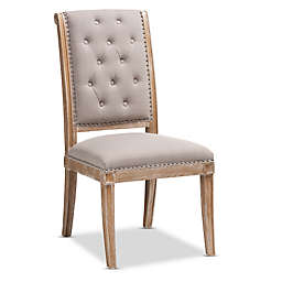 Baxton Studio Linen Upholstered Charmant Dining Chair