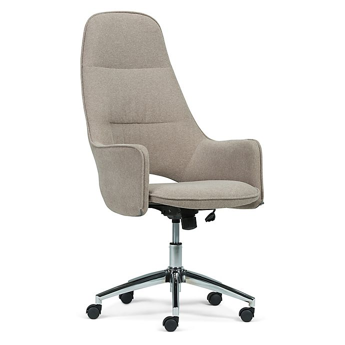 Alternate image 1 for Simpli Home Microfiber Swivel Zara Office Chair