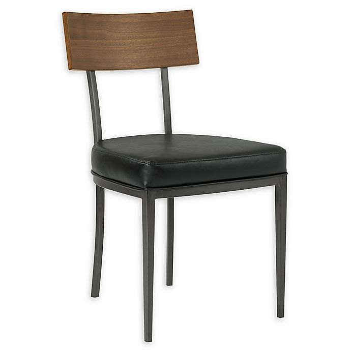 Alternate image 1 for Armen Living® Faux Leather Ojai Dining Chairs (Set of 2)