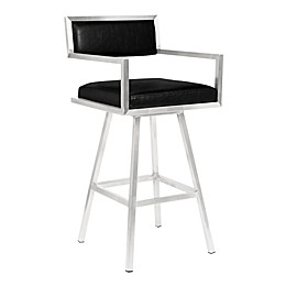 Armen Living® Faux Leather Upholstered Dylan Bar Stool