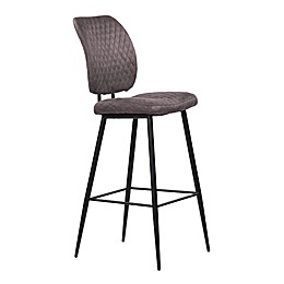 Armen Living® Wood/metal Upholstered Buckley Bar Stool