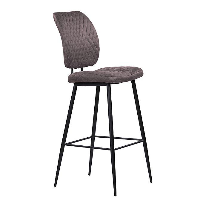 Alternate image 1 for Armen Living® Wood/metal Upholstered Buckley Bar Stool