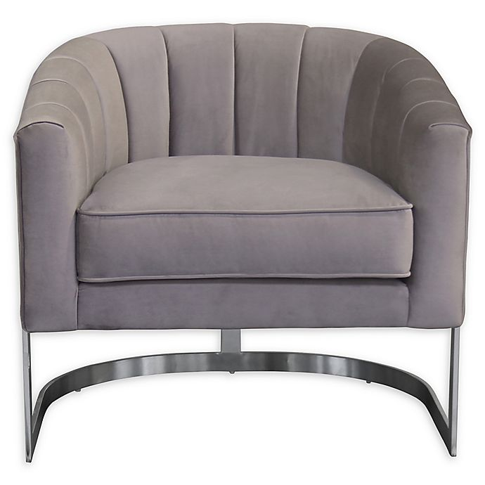 Alternate image 1 for Armen Living® Wood/metal Upholstered Paloma Chair