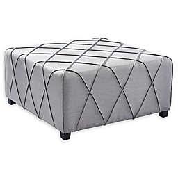Armen Living® Linen Upholstered Gemini Ottoman