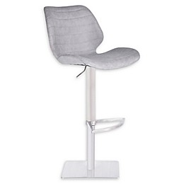Armen Living® Faux Leather Swivel Falcon Bar Stool