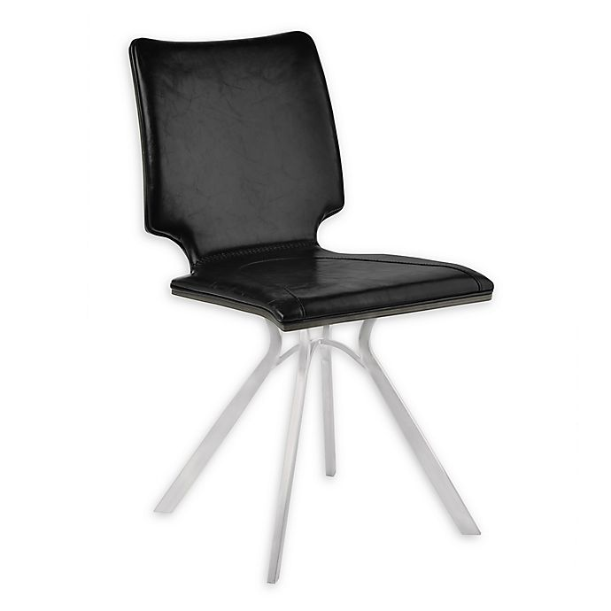 Alternate image 1 for Armen Living® Faux Leather Upholstered Marley Dining Chairs (Set of 2)