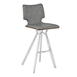 Armen Living® Faux Leather Upholstered Marley Bar Stool