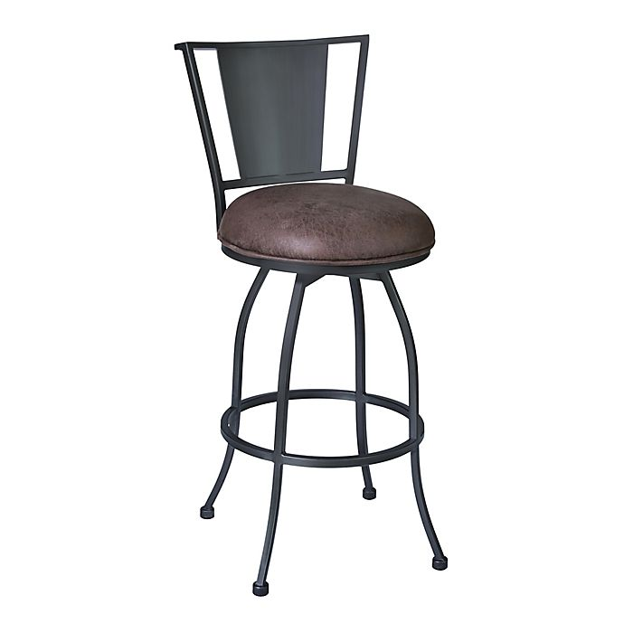 Alternate image 1 for Armen Living® Faux Leather Upholstered Dynasty Bar Stool
