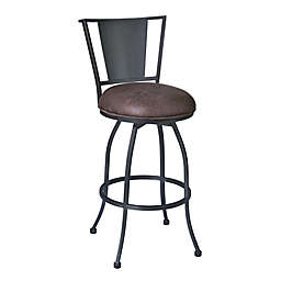 Armen Living® Faux Leather Upholstered Dynasty Bar Stool