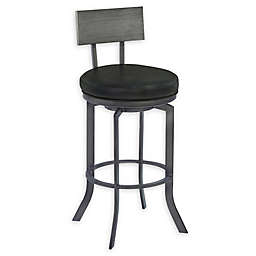 Armen Living® Faux Leather Swivel Ojai Bar Stool