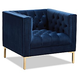 Baxton Studio Velvet Upholstered Zanetta Chair